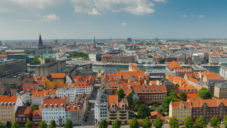 The-City-Of-Copenhagen-An-Old-City-Often-With-Old-Tiled-Roofs-And-Spiers-4k-Video