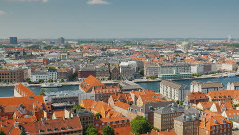 View-Of-The-Stylish-City-District-Of-Copenhagen-4k-Video