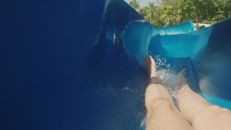 A-Man-Descends-From-A-Water-Slide-Looking-Only-Feet