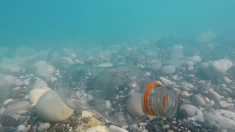 An-Empty-Plastic-Bottle-Floats-In-Seawater-Contamination-Of-The-Sea-With-Waste-Is-A-Bad-Ecology-Conc