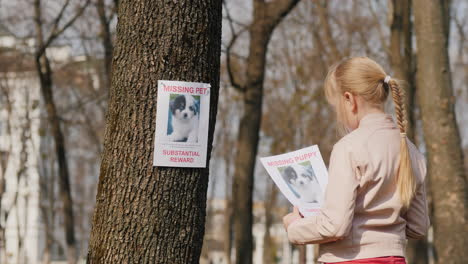 A-Child-With-A-Poster-About-His-Missing-Dog-Pet-Search