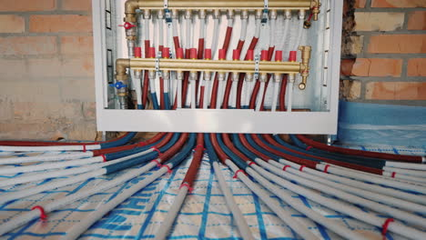 Comb-System-Of-A-Heat-Insulated-Floor-Modern-System-Of-Heating