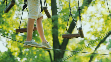 The-Legs-Of-A-Tightrope-Walker-Overcomes-The-Fear-Of-Heights