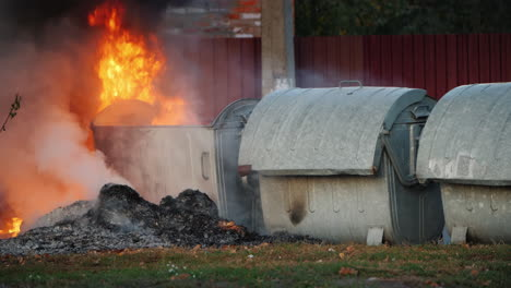 Fire-Near-Garbage-Cans-Riots-In-The-City