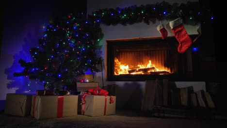 Fireplace-Decorated-For-Christmas-And-Gift-Socks-Above-It-Slider-Shot