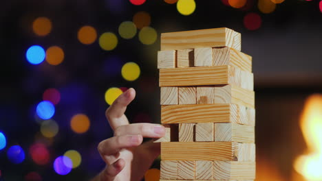 Board-Game-For-Training-Accuracy---Pull-Out-A-Wooden-Block-From-The-Tower