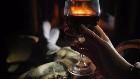 Winter-Solitude---Sit-With-A-Glass-Of-Wine-By-The-Fireplace-And-Admire-The-Burning-Flame