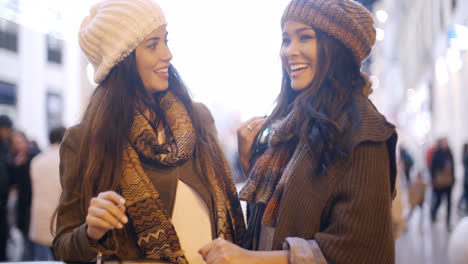 Two-stylish-young-women-in-winter-fashion