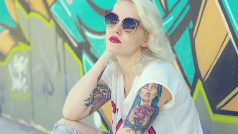 Trendy-young-woman-with-a-vampire-tattoo