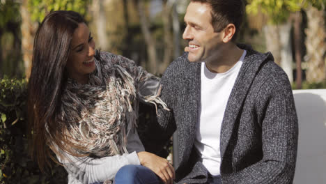 Happy-young-couple-enjoying-the-autumn-sunshine
