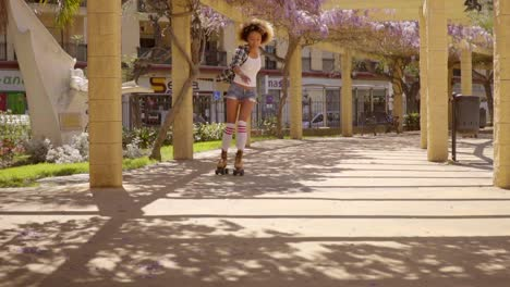 Young-Girl-On-Roller-Skates
