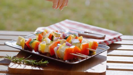 Vegetable-kabob-on-plate-close-up
