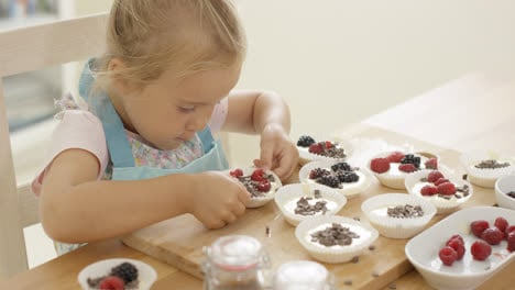 Muffin-cups-being-prepared-by-little-girl