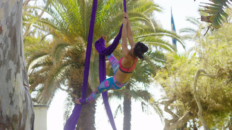 Young-gymnast-working-on-her-acrobatic-dance