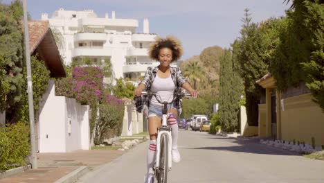Young-Woman-Riding-The-Bicycle