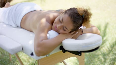 View-on-massage-table-with-woman-laying
