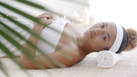 Woman-Lying-On-A-Lounger-In-Wellness-Center