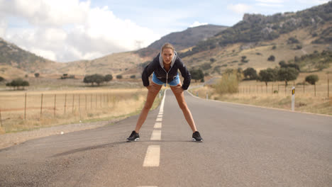 Fitness-Lady-Doing-Stretch-ups-