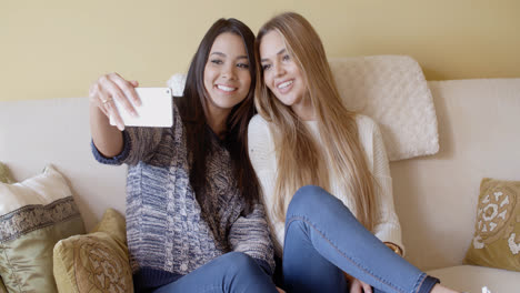 Two-pretty-girls-posing-for-a-selfie