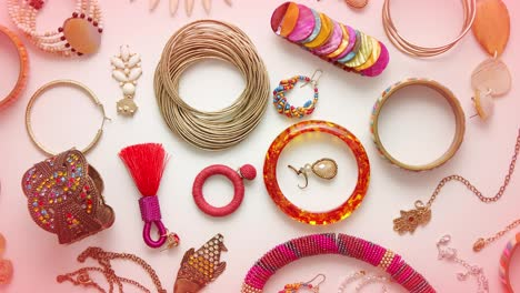 Female-jewelry-flat-lay-composition-Various-styles-colors-and-design-Mix-of-everything-for-women