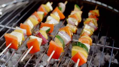 Delicious-vegetable-kabobs-on-grill