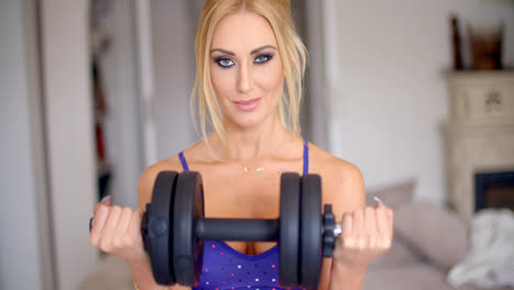 Athletic-young-woman-working-out-at-home
