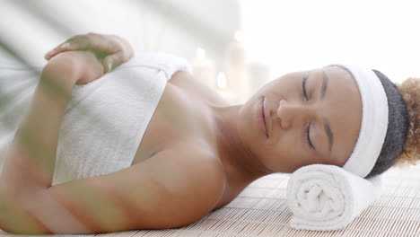 Woman-Lying-On-A-Lounger-In-A-Wellness-Center