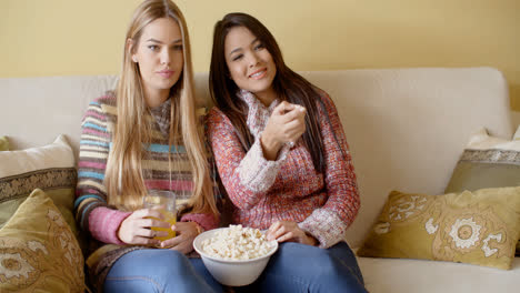 Girls-Watching-Movie-at-Home-with-Snacks