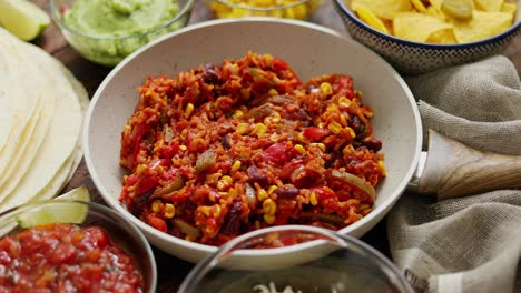 Preparing-vegetable-burritos-on-white-pan-With-various-ingredinets-for-mexican-food