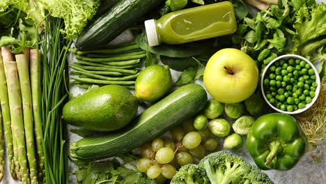 Assortment-of-fresh-organic-antioxidants-Green-fruits-and-vegetables