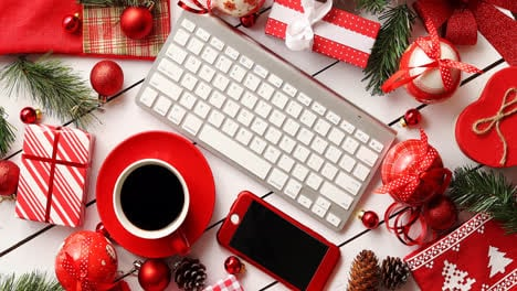 Christmas-presents-and-decorations-around-gadgets-and-beverage