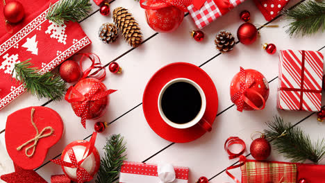 Christmas-decorations-and-presents-around-coffee