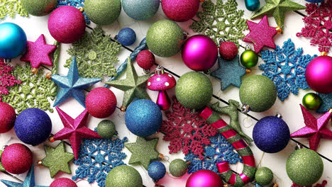 Christmas-decoration-top-view-