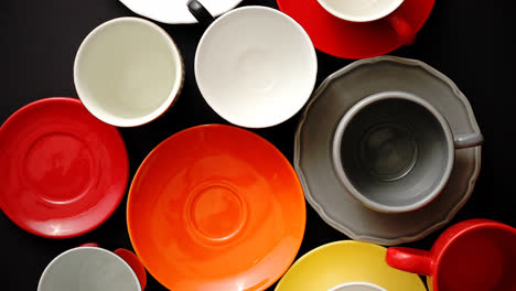 Empty-colorful-modern-ceramic-plates-and-cups-collection