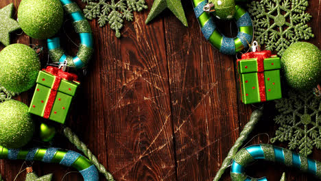 Green-festive-ornaments-