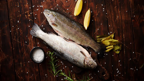 Fresh-trout-with-lemon-on-board