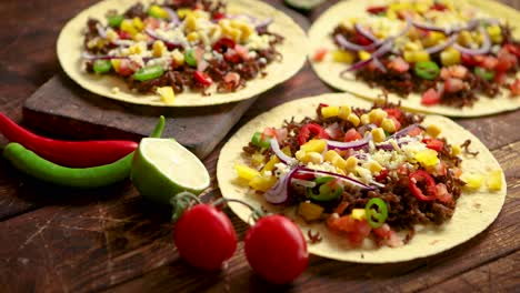 Healthy-corn-tortillas-with-grilled-beef-fresh-hot-peppers-cheese-tomatoes