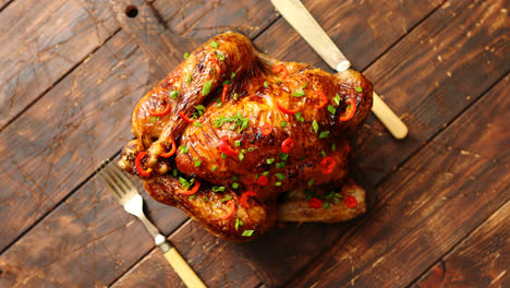 Homemade-roasted-spicy-chicken-with-chilli-and-chive