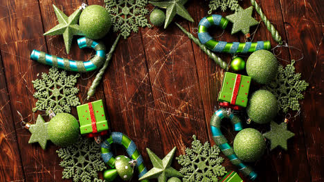 Christmas-ornaments-laid-in-circle