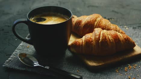 Croissants-and-cup-of-coffee