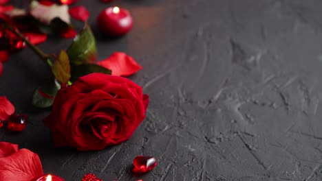 Red-rose-petals-candles-dating-accessories-boxed-gifts-hearts-sequins