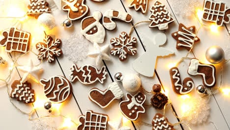 Christmas-sweets-composition-Gingerbread-cookies-with-xmas-decorations