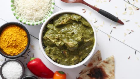 Traditional-South-Indian-Korai-Chicken-Curry-with-Mint-and-Coriander