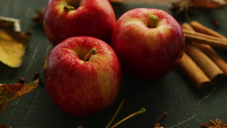 Autumn-Red-apples-and-spices