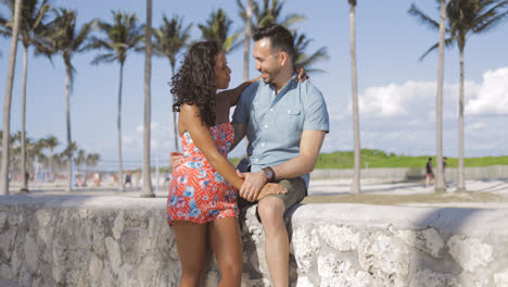 Romantic-happy-couple-on-tropical-seafront