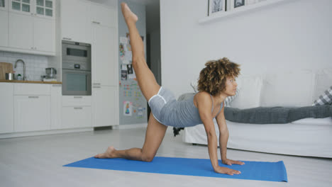 Fit-woman-working-out-on-mat