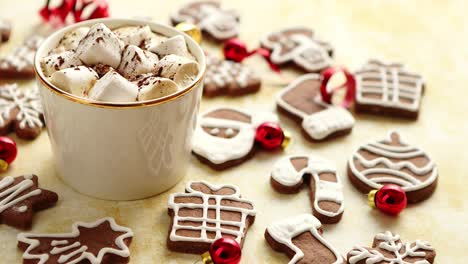 Cup-of-hot-chocolate-and-Christmas-shaped-gingerbread-cookies