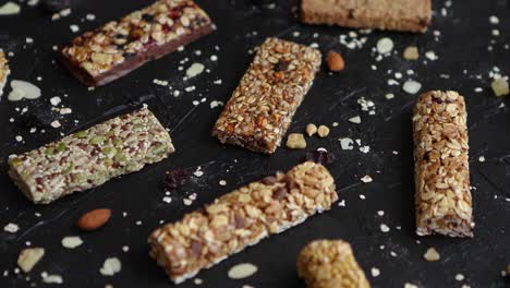 Mixed-gluten-free-granola-cereal-energy-bars-With-dried-fruits-and-nuts