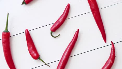 Spining-in-Slow-Motion-Red-hot-chili-peppers-pattern-isolated-on-white