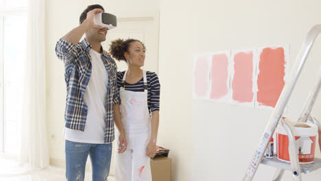 Couple-uses-virtual-reality-glasses-to-choose